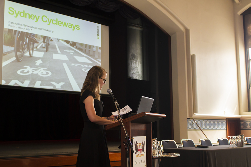 Day 2: Beth Robrahn, Client Program Manager, City Access Unit, City of Sydney talks about cycling in Sydney.