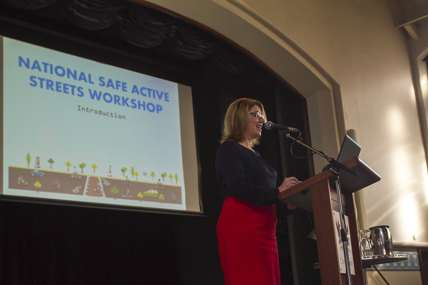 Day 1: Hon. Minister for Transport, Rita Saffioti MLA welcomes attendees and officially opens the Safe Active Streets National Workshop.