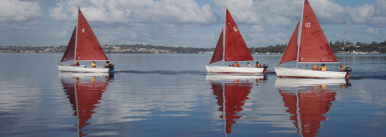 Image of students yachting